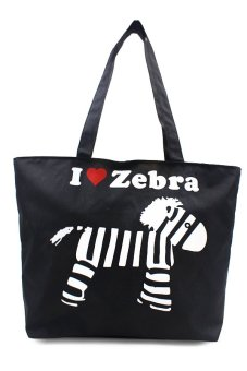 London Fashion I Love Zebra Design Tote Bag (Black) Price Philippines