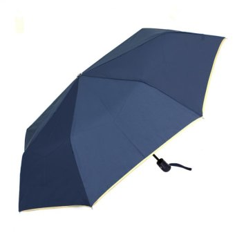 London Fashion SPhil Plain Windproof Automatic Compact Umbrella (Navy Blue)