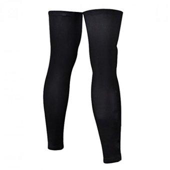 Long Sleeve Stretch Leg Warmer Sports Knee Guard Windproof Covers L - 2