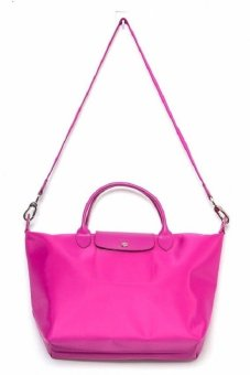 Longchamp Le Pliage Neo Large with Sling Tote Bag (Magenta)