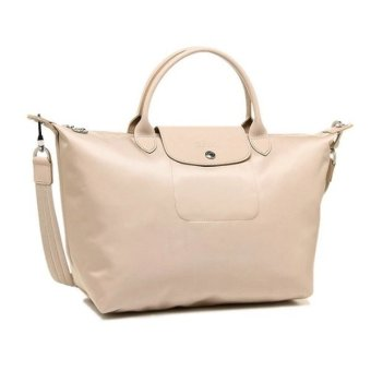 Longchamp Le Pliage Neo Medium Nylon Tote Bag (Beige)