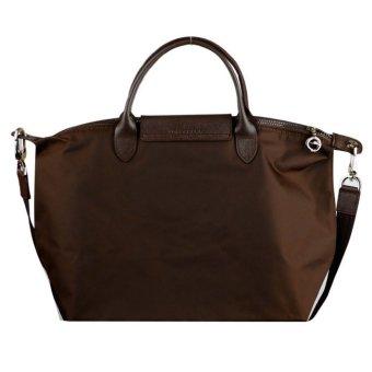 Longchamp Le Pliage Neo Medium Nylon Tote Bag (Brown) - 2