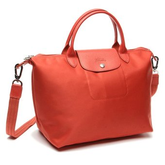 Longchamp Le Pliage Neo Medium Nylon Tote Bag (Orange)