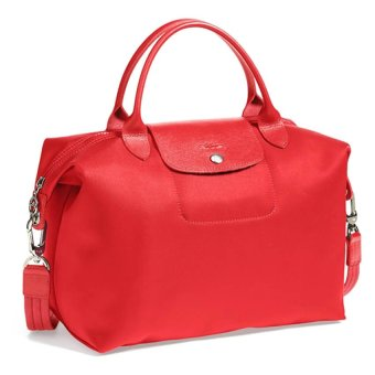 Longchamp Le Pliage Neo Medium Nylon Tote Bag (Red)