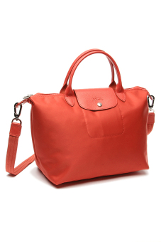 Longchamp Le Pliage Neo Medium Short Handle (Orange)