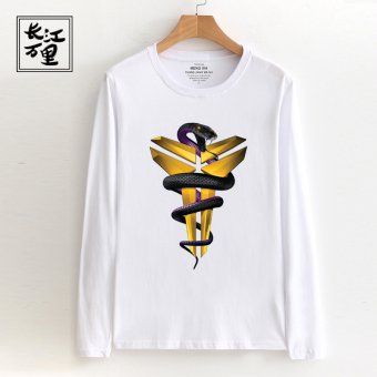 LOOESN basketball I long-sleeved t-shirt (Mamba snake white)