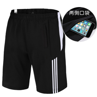 LOOESN casual for Men and Women quick-drying breathable shorts I shorts (5015 black white side)