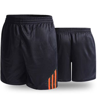 LOOESN casual New style for men and women breathable black I shorts (Orange)
