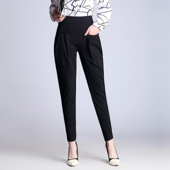 LOOESN female New style high-waisted suit pants harem pants