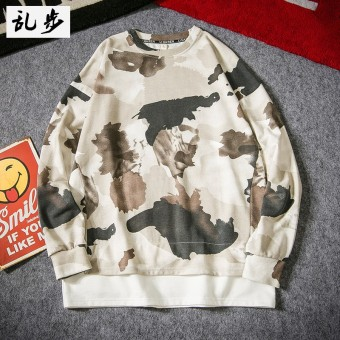 LOOESN hip hop autumn camouflage men's T-shirt (127 camouflage white)