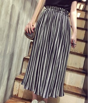 LOOESN Korean-style chiffon female slimming culottes wide leg pants