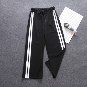 LOOESN Korean-style female autumn New style I pants wide leg pants (White article)