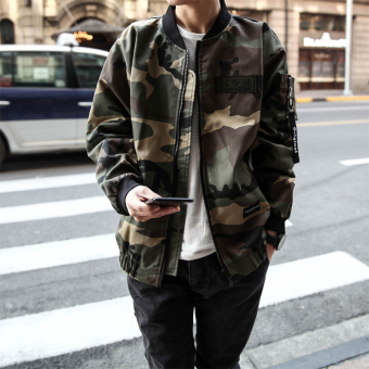 LOOESN Korean-style men's camouflage jacket