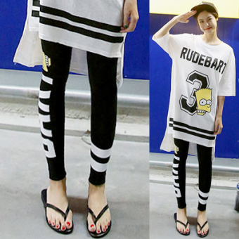LOOESN Korean-style Modaier Plus-sized slimming leggings pants