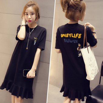 LOOESN Korean-style New style dress (Black)
