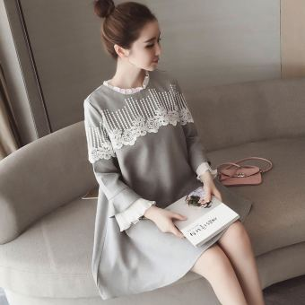 LOOESN Korean-style New style pregnant women's dress