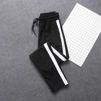 LOOESN Korean-style student style New style autumn casual pants athletic pants (Flat foot section)