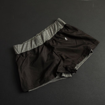 LOOESN lined with quick-drying with anti-shorts running I shorts (Heather gray color)
