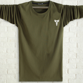 LOOESN men's cotton long-sleeved t-shirt (Xiao Ke green)