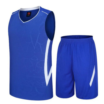 LOOESN men's summer running clothes basketball clothes (Blue)