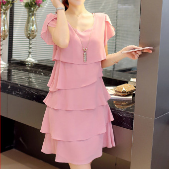 LOOESN mm200 fat dress Dress (Pink)