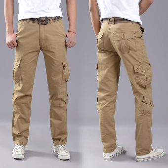LOOESN outdoor tube wear and more with pockets pants tooling pants (Eight with pockets casual)