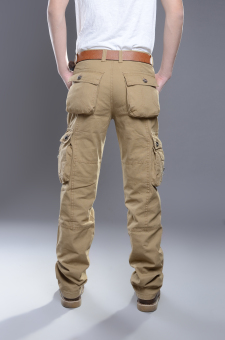 LOOESN outdoor tube wear and more with pockets pants tooling pants (Six with pockets casual)