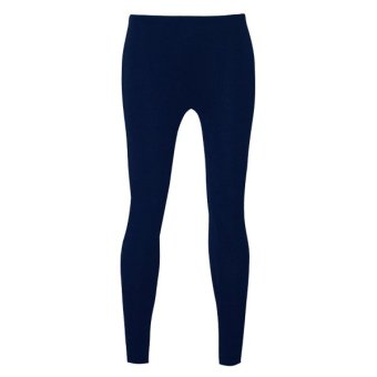 Lookssy Unisex Style Leggings Plain (Dark Blue)