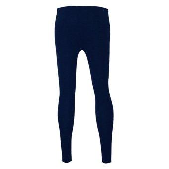 Lookssy Unisex Style Leggings Plain (Dark Blue) - 2