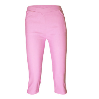 Lookssy Unisex Style Plain Type Jeggings Pedal (baby pink)