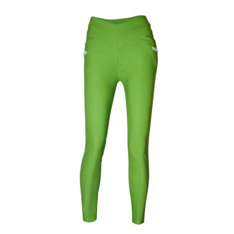 Lookssy Unisex Style Plain Type Jeggings w/grey under pocket(green)