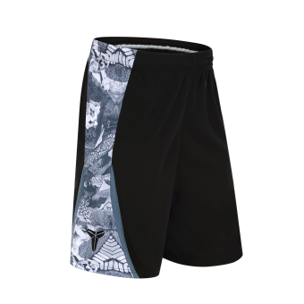 Loose and plus-sized quick-drying over-the-knee shorts basketball shorts (Black version1)