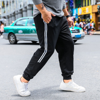 Loose casual Plus-sized foot sweatpants athletic pants