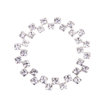 Loose Faceted Sew On Rhinestone Beads 6mm Set of 40 (Silver)