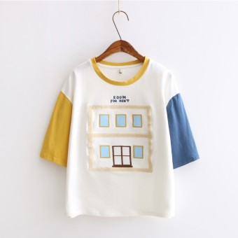 Loose fresh cotton female Slimming effect Top Korean-style short-sleeved t-shirt