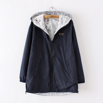 Loose Korean-style female spring New style autumn coat (Black)