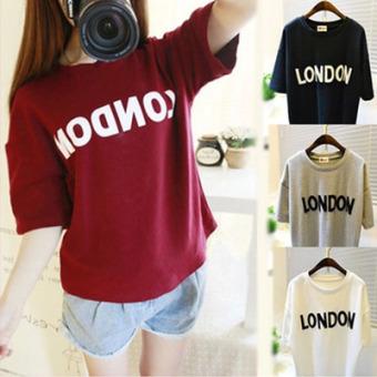 Loose Korean-style letter Print short-sleeved t-shirt