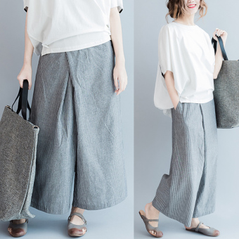 Loose mm200 Korean-style female fat leg wide leg pants women's pants