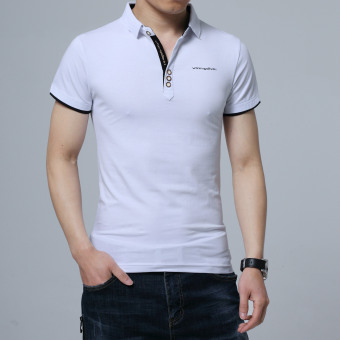 Loose short sleeved men Plus-sized Short sleeve T-shirt ([02 models] White)