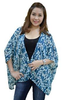 Love My Clothes Chiffon Kimono ( Printed Blue Green)