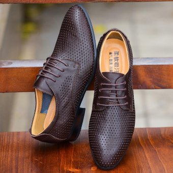 Lovers fashion leisure British Genuine Leather shoes - intl Price Philippines