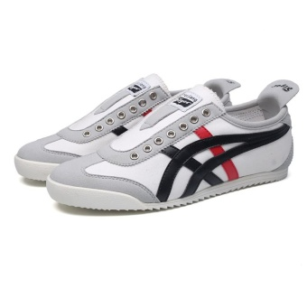 LR Japanese-style canvas student a pedal tide shoes Forrest Gump shoes (Blue and gray sets foot (there is no lacing) Standard sports shoes code)