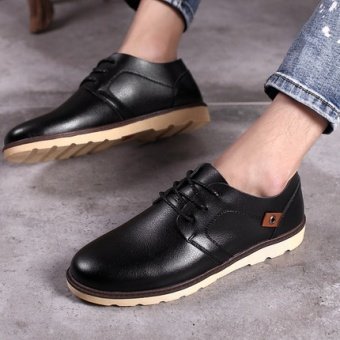 LR Korean-style breathable round shoes Shoes (8336 black)