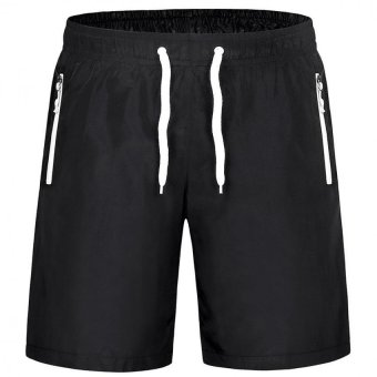 M-4XL Men Sports Drawstring Shorts With Pocket Workout Running Board Shorts Gym Quick Dry Short Pants Beach Surfing Sweatpants Price Philippines
