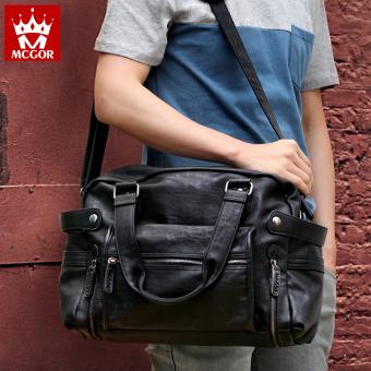 Magellan bag Korean-style travel bag men's casual bag (Retro coffee color)