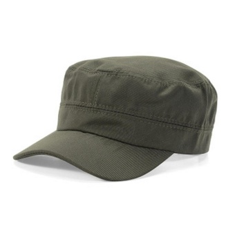 Makiyo Men Women Outdoor Plate Sun Hat Army Plain Military BaseballSport Cap ( Army Green ) - intl Price Philippines
