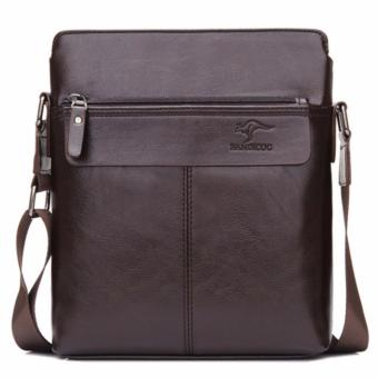 Male Satchel Bag Casual Messenger Handbag For Men PU Leather SlingBags LS6630#(Brown) - intl