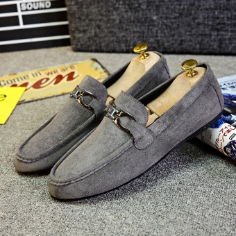 Male Social Plus velvet New style winter moccosins (D79 gray)