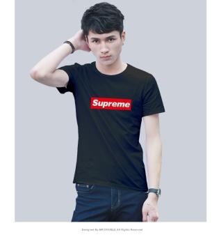 Male t-shirt supreme popular tide summer T-shirt cotton round neck short sleeve men's bottoming shirt - intl - 3