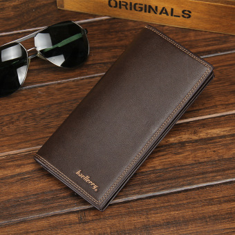 Male ultra-thin soft leather wallet (PARK'S color long)